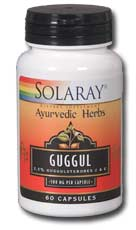 Solaray Guggul Gum Extract is known to lower cholestorol and strengthen the cardiovascular system, especially the heart..