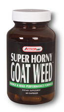 Super Horny Goat Weed is an all natural sex drive stimulant..