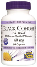 Black Cohosh has been found most effective at helping to reduce the occurance of hot flashes in menopausal women. It has been very successful at decreasing the amount of excessive sweating the women experienced..