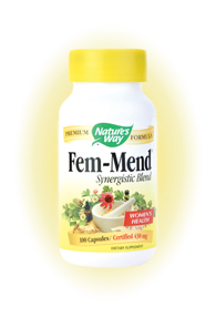Nature's Way Fem-Mend (100 caps) is a synergistic blend of herbs that helps women become revitalized and rejuvenated.