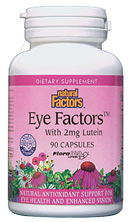Natural Factors Eye Factors with Lutein (90 Caps) is a specially designed product with support of the eye mind.