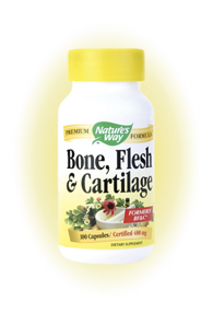 Nature's Way Bone, Flesh & Cartilage is an herbal formula that helps support healthy flesh, bone and cartilage. It is formerly known as BF&C.