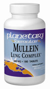 Planetary Formulas Mullein Lung Complex- a special blend of herbs for the relief of cough and chest congestion..