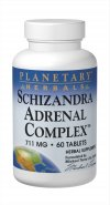 Planetary Formulas Schisandra Adrenal Complex is a beneficial blend of herbs and nutrients that aids in stress relief and enhanced sleep patterns..