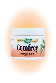 Nature's Way Comfrey Ointment Contains: Tallow, Comfrey leaf, Soybean oil, Olive oil and Beeswax.