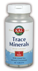KAL Trace Minerals are advanced glycinate chelated minerals from green foods that enhance absorption by stimulating gastric secretion and the body's natural thermogenic activity..