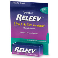 Releev 0.2 oz by ViraMedX is an all-natural and effective treatment for skin lesions associated with herpes such as cold sores, blisters, etc. It offers immediate pain relief and helps to resolve sore within 24 hours..
