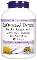 RxOmega-3 Factors contains high levels of omega-3 and omega-6 fatty acids, which are used by the body to maintain cardiovascular health, improve brain function, and reduce joint pain..