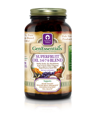 GenEssentials Superfruit Oil 3-6-7-9 Blend is a therapeutic combination of Sacha Inchi, Sea Buckthorn, Acai, Goji and other pure