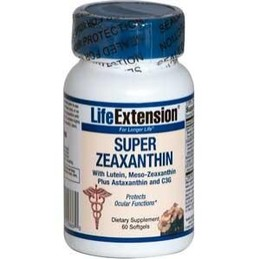 Super Zeaxanthin with Lutein & Meso-zeaxanthin Plus Astaxanthin and C3G (60 softgels)*.