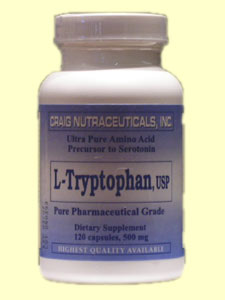 Craig Nutraceuticals L-Tryptophan (120 Caps) is a supplement that will supplement the body with the essential amino acid tryptophan.