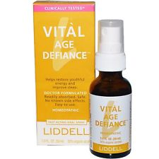Vital Age Defiance is a homeopathic formula in a convenient spray that helps rebalance the bodies energy and provide the nutrients needed for longevity..