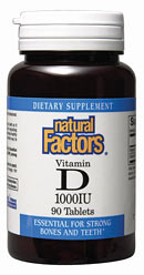 Natural Factors Vitamin D increases calcium absorption in the body from food. It is all-natural..