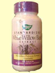 Nature's Way White Willow Bark extract is pulled from the inner bark of the tree commonly grown in Asia and Europe. It contains 15% Salicin, which is an effective fever and inflammation reducer..